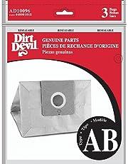 Dirt Devil Type AB Vacuum Bags (3-Pack), AD10096