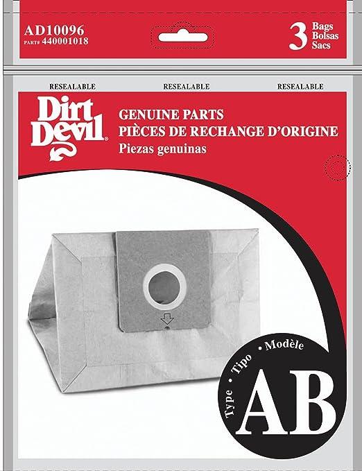Dirt Devil Type AB Vacuum Bags 3-Pack AD10096