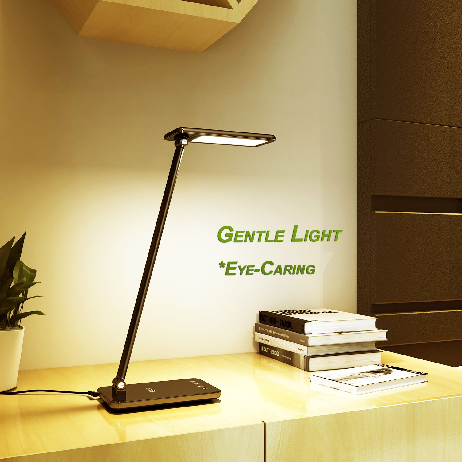 LED Desk Lamp 8W, Aglaia Eye-Caring Table Lamps with Dimmable Touch Control, Stepless Brightness Levels and Lighting Modes, Aluminum Alloy ARM, 1-Hour Auto Timer, Memory Function by Aglaia (Image #3)