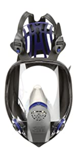 3M Ultimate FX Full Facepiece Reusable Respirator FF-403, Mold, Painting, Sanding, Chemicals, Gases, Dust, Large