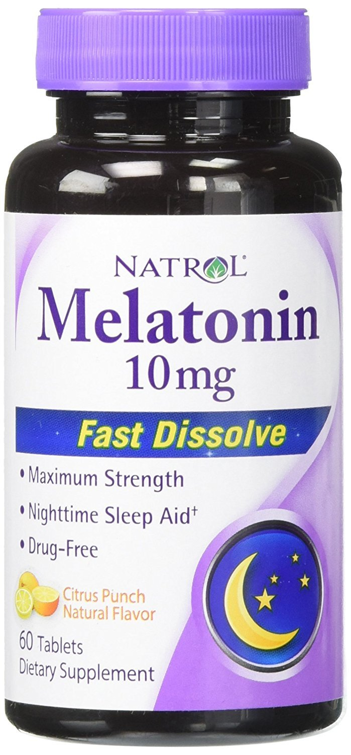Amazon.com: Natrol Melatonin Fast Dissolve Tablets, Citrus Punch 10mg: Health & Personal Care