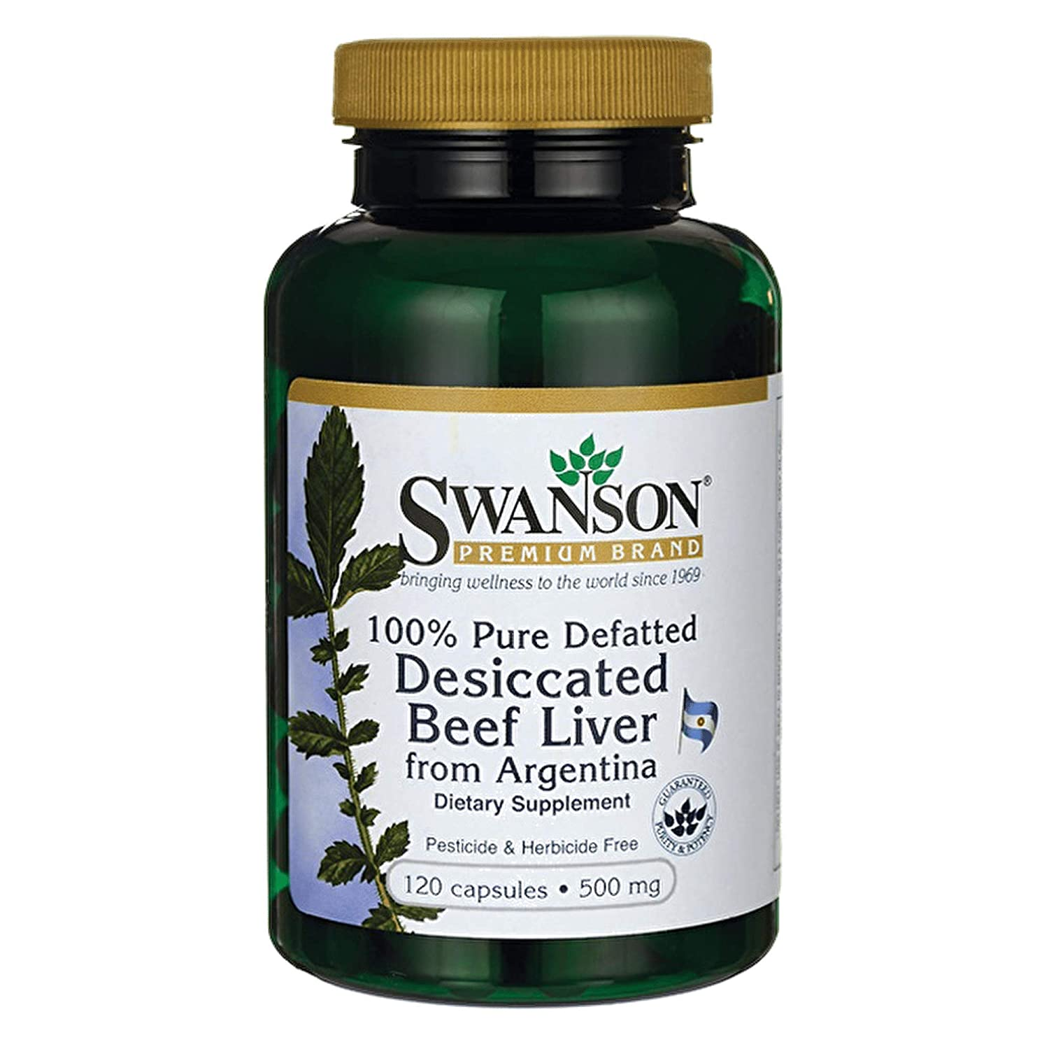Amazon.com: Swanson 100% Pure Defatted Desiccated Beef Liver 500 mg 120 Caps 4 Pack: Health & Personal Care