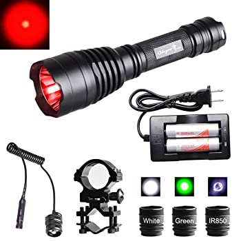 Odepro KL41 Red Green IR850 LED Long Range Rechargeable Night Hunting Tactical Light