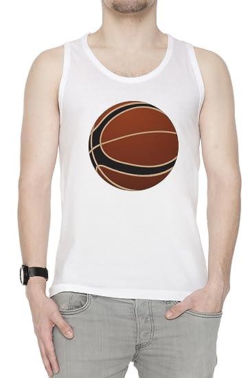 Baloncesto Pelota Hombre De Tirantes Camiseta Blanco Todos Los ...