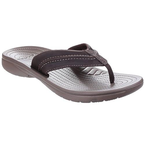2146e9e1e5db14 Crocs Mens Yukon Mesa Summer Toe Post Flip Flops Sandals (8 US ...