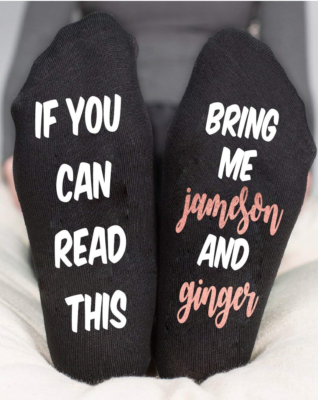 If You Can Read This Funny Socks Bring Me A Jameson And Ginger