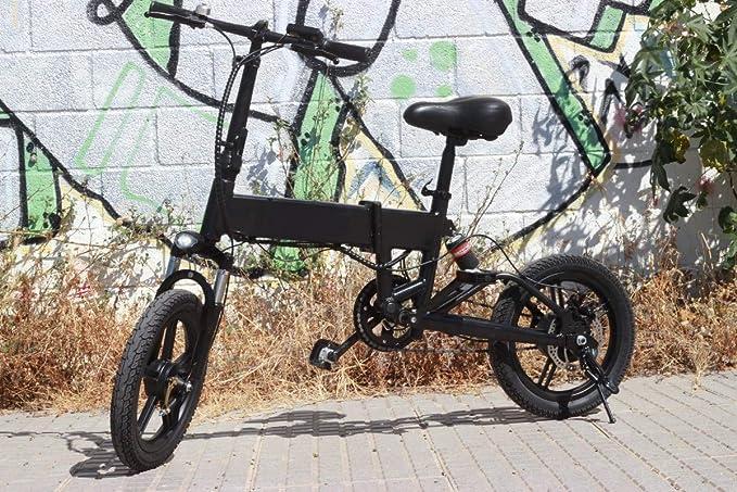 Bicicleta Eléctrica Rider Pro S9 Plegable E-Bike LED 25km/h Pedaleo asistido e Bike (Negro): Amazon.es: Deportes y aire libre