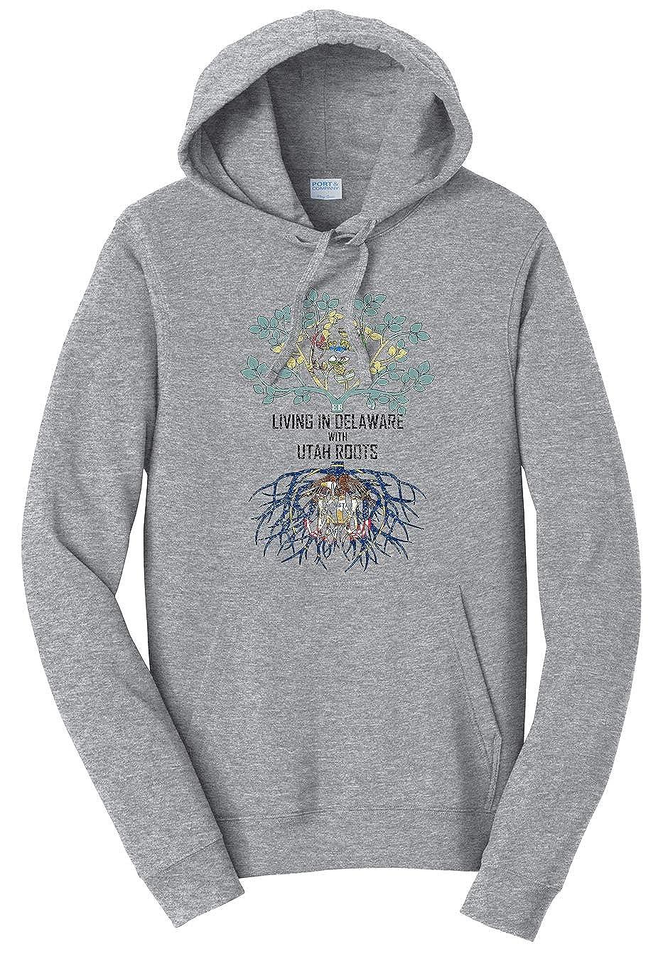Tenacitee Unisex Living in Delaware Utah Roots Sweatshirt