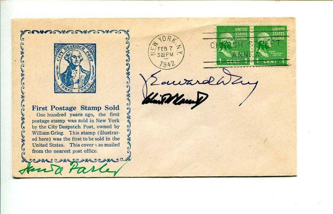 J. Edward Day Winton Blount James Farley US Postmaster General Rare Signed FDC NFL Cut Signatures