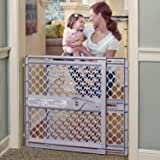"Toddleroo by North States 42"" Wide Supergate Ergo Baby Gate: Great for doorways or stairways. Includes Wall Cups for…"