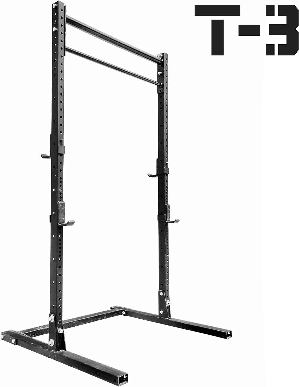 titan hd squat stand fitness rack pull up bar