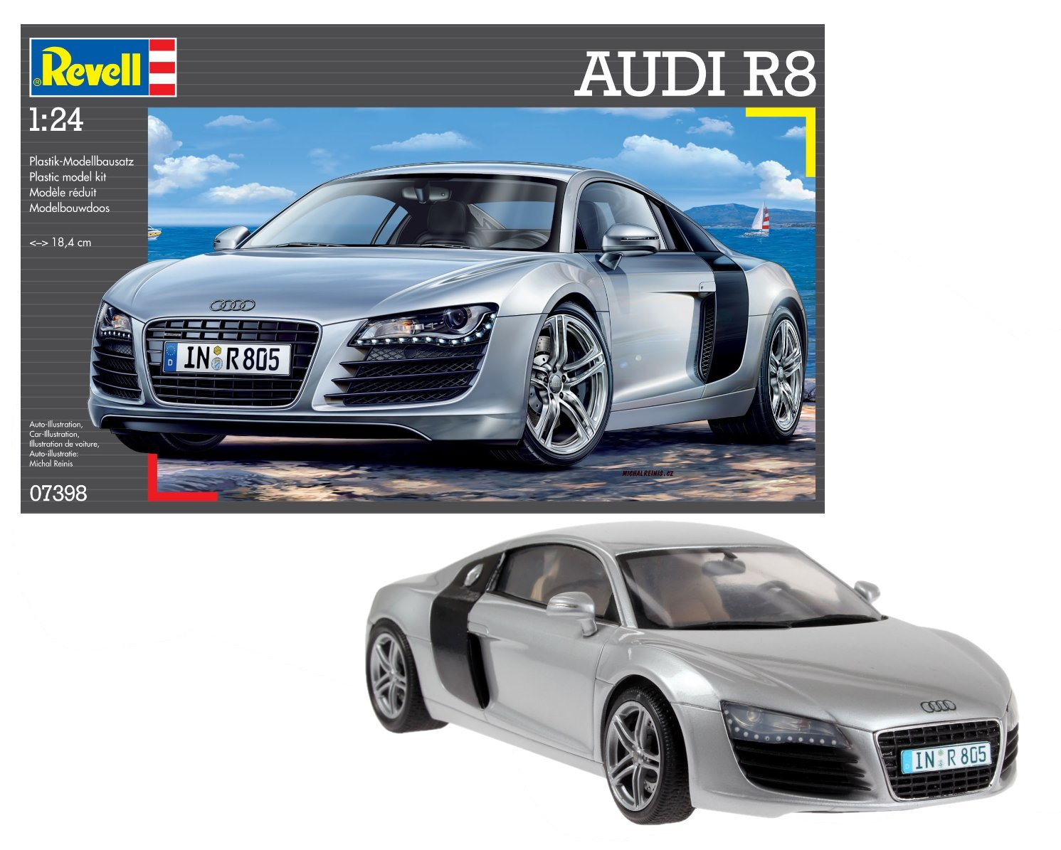 Amazon Com Revell Germany Audi R8 Sports Car Model Kit Toys Games