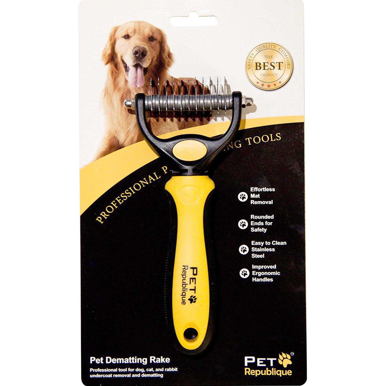 Pet Republique Professional Dematting Tool – Dematter for Dogs, Cats, Rabbits, Long Haired Breed Pets – Split Matted Hair (Best Mat Splitter or De-matting Comb for Dogs) by Pet Republique (Image #3)