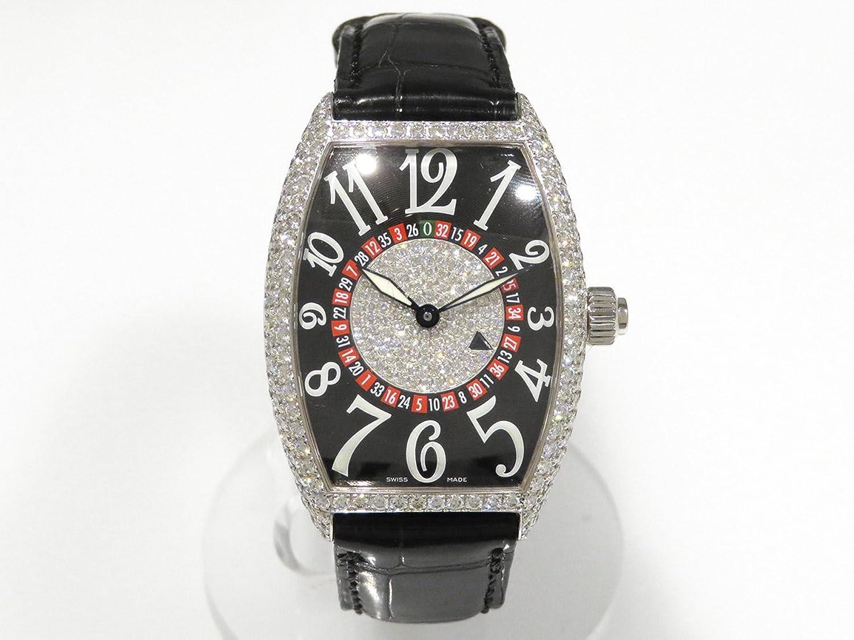 フランクミュラー FRANCK MULLER トノウカーベックス ヴェガス 5850VEGASD ブラック文字盤 メンズ 腕時計 【中古】 B0784PXZHY
