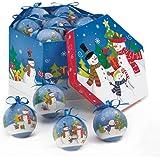 Merry Snowman Family Ornament Box Set