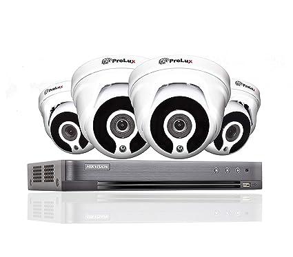 Hikvision 4 canales DVR CCTV Kit Sistema de seguridad y 4 x Sony 2,4