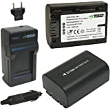 Wasabi Power Battery (2-Pack) and Charger for Sony NP-FV30, NP-FV40, NP-FV50 and Sony DCR-SR15, SR21, SR68, SR88, SX15, SX21, SX44, SX45, SX63, SX65, SX83, SX85, HDR-CX105, CX110, CX115, CX130, CX150, CX155, CX160, CX190, CX200, CX210, CX220, CX230, CX260