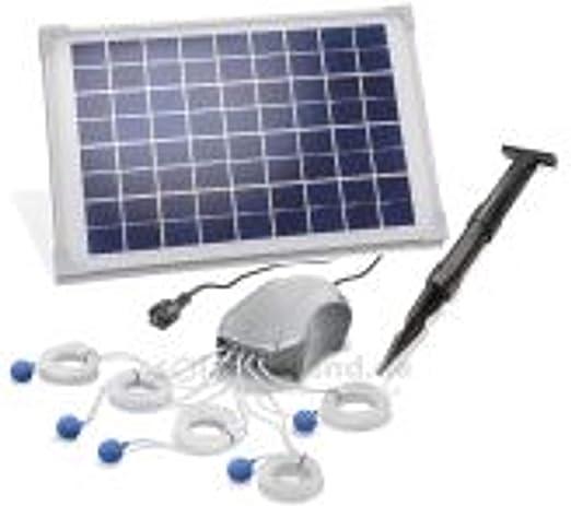 101887 - Ventilador solar para estanque (10 W, 5 x 120 l/h ...