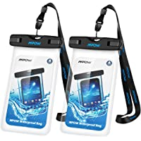 Mpow Universal Waterproof Case, IPX8 Waterproof Phone Pouch Dry Bag Compatible iPhone X/8/8plus/7/7plus/6s/6/6s Plus Galaxy s8/s7 Google Pixel HTC10 (Clear 2-Pack)