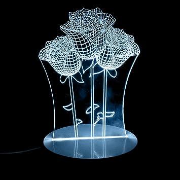 Luz en casa® 3d, 3d Visual de luz LED USB lámpara de mesa LED