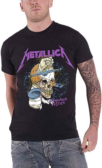 Metallica T Shirt Damage Hammer Band Logo Nuevo Oficial De Los Hombres: Amazon.es: Ropa y accesorios
