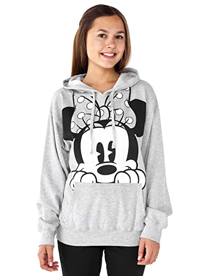 Amazoncom Disney Womens Hoodie Minnie Mouse Peeking Pullover