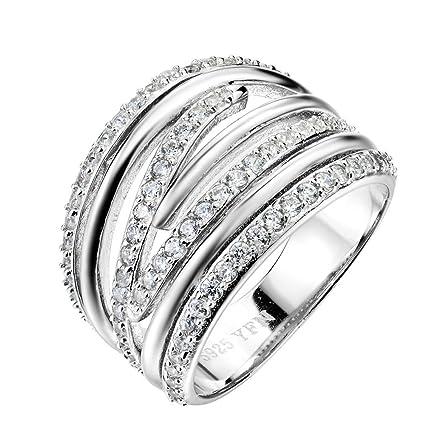 c664bf014d1f 1 pieza de joyería de plata esterlina 925 genuino para mujeres Anillos plata  Anillo grandes mayoristas
