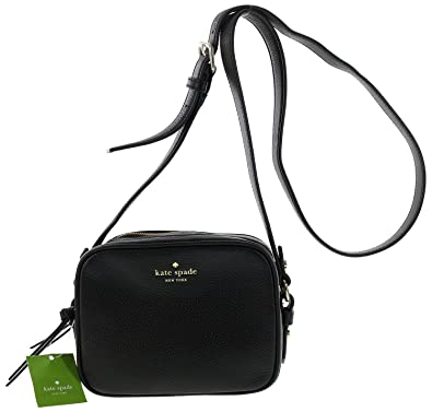 dcf12f302e Kate Spade New York Mulberry Street Pyper Pebbled Leather Crossbody  Shoulder Bag (Black)