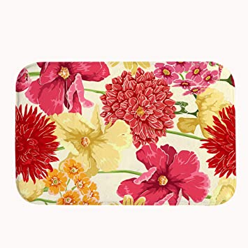 Amazon Com Xasan Decorative Non Slip Watercolor Floral Flower