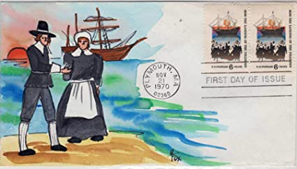 Amazon com: Mayflower and Pilgrims Hand Painted by Melissa
