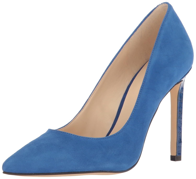 Nine West Women's Tatiana Dark Natural Suede Dress Pump B01MXVZ5NW 10.5 B(M) US|Blue