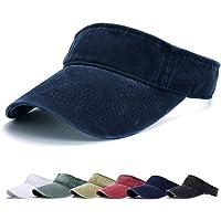 Kordear Visera Mujer - Visor Gorras,Sombrero de Velcro Ajustable 1/2 Gorra Deportiva Protección UV Viseras