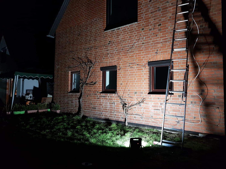 Northpoint Profi LED Arbeitsstrahler Baustrahler 30W 3000 Lumen r/ückseitige Steckdose 3m Netzkabel