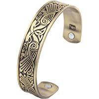 Celtic Knot Viking Crow Bracelet Norse Magnetic Stainless Steel Cuff Bangle Bracelet for Men