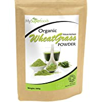Organic Wheatgrass Powder (500 Grams) | MySuperFoods | Certified Organic | Source of Vitamin E, Calcium, Iron, Zinc, Fibre | Powerful Antioxidant | Highest Grade Powder Available
