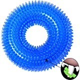 VEBE Dog Chew Toys Durable Safe Non-toxic Soft Rubber Chew Resistant Dog Toy with Squeaker (Blue)