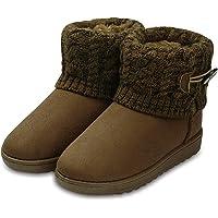Botas de Nieve para Mujer Zapatillas de Punto