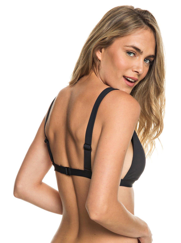 Roxy Womens Softly Love - Elongated Tri Bikini Top - Women - XL - Black Anthracite XL