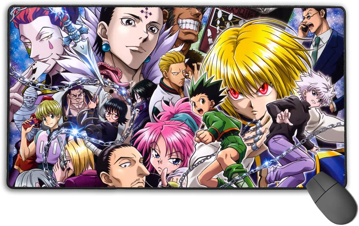 Hunter X Hunter Non-Slip Mouse Pad Rectangle Rubber Gaming Mouse Pad Anime Mouse Pad 30x15.7 Inch 75x40 cm