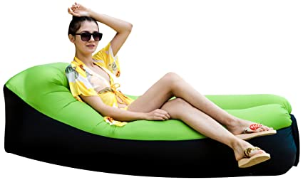 Admirable Inflatable Lounger Air Sofa Chair With U Shape Neck Pillow And Handy Storage Bag For Campinghiking Swimming Pool To Use As Mattress Theyellowbook Wood Chair Design Ideas Theyellowbookinfo