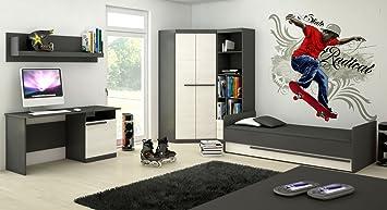 Jugendzimmer Komplett Set A Sidi 5 Teilig Farbe Grau Kiefer