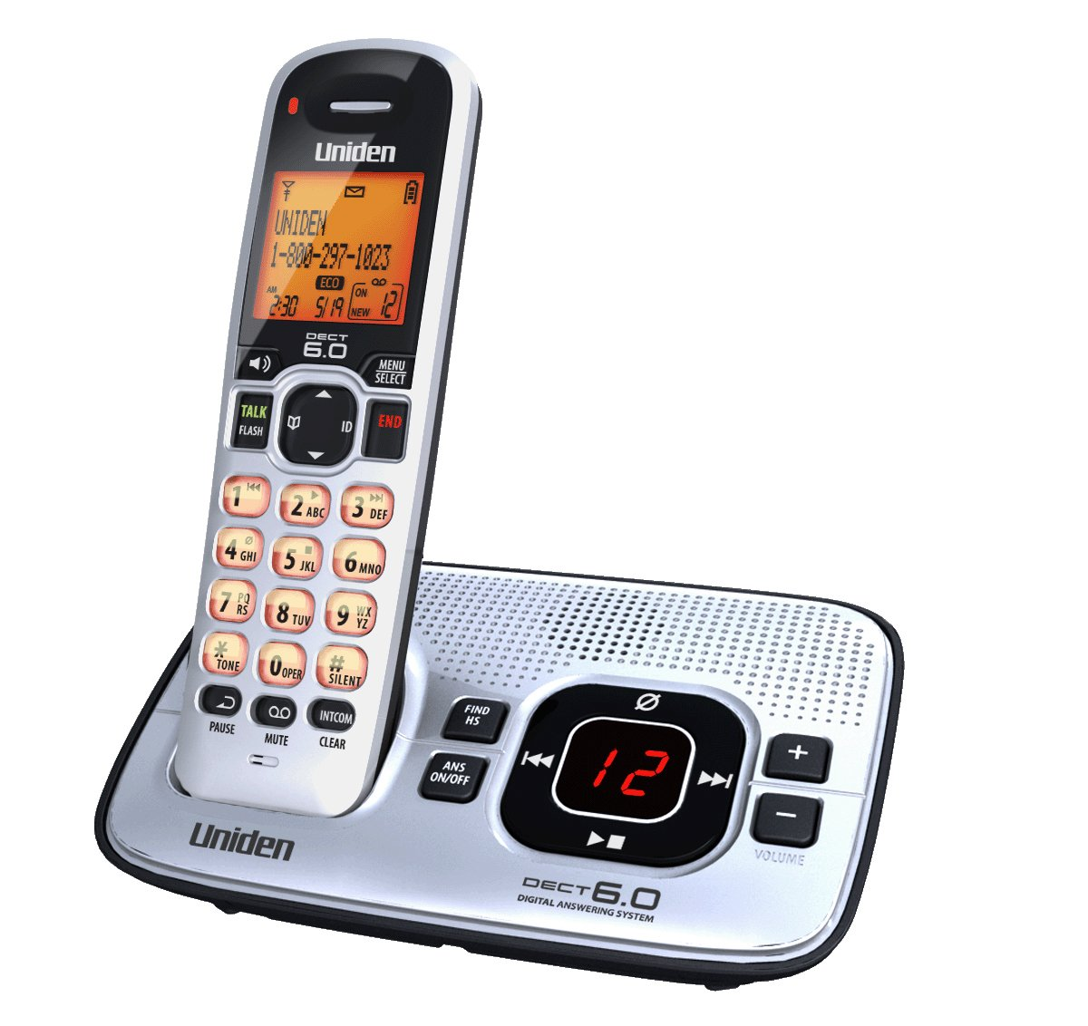 Amazon.com : Uniden D1680 Cordless Phone with Answering system : Cordless  Telephones : Electronics