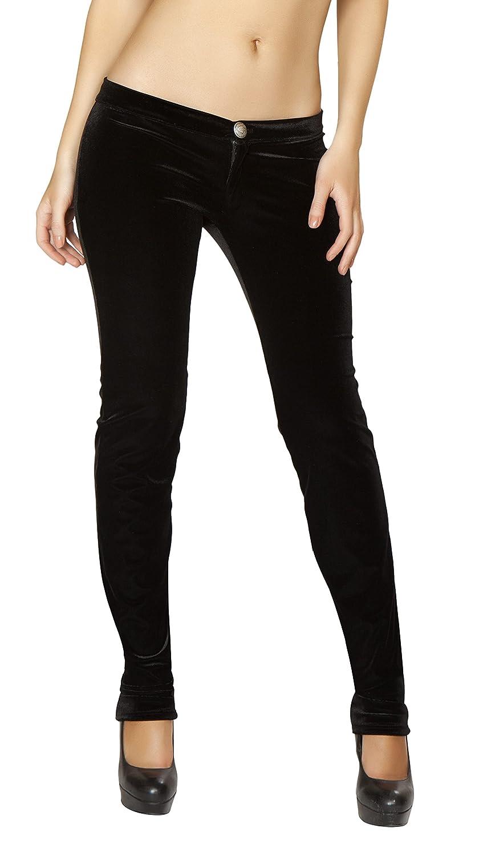 Roma Women's Velvet Button Front Pants 3170
