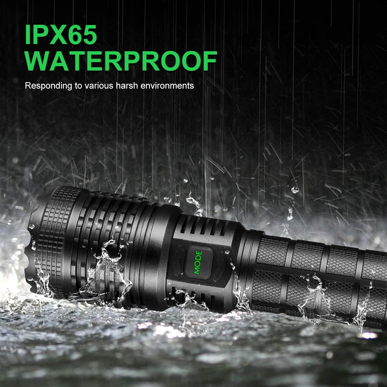 Outdoor Emergency Hiking Tokeyla Xhp50 LED Flashlight,2000 Lumens Torch Ipx65 Water Resistant,5 Modes and Zoomable for Camping