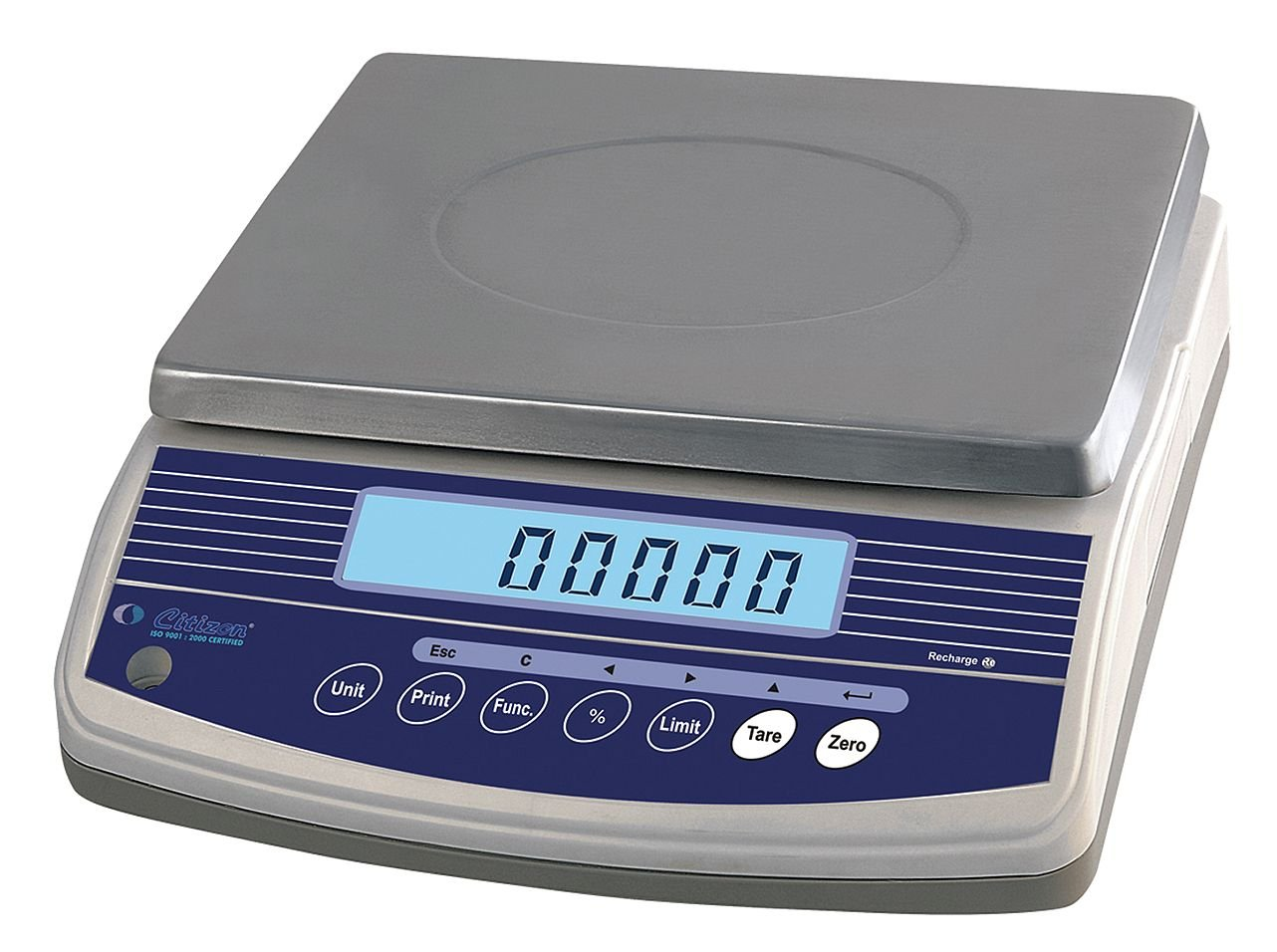 CITIZEN 12R987 Weighing Scale, 6000g/6kg/13lb