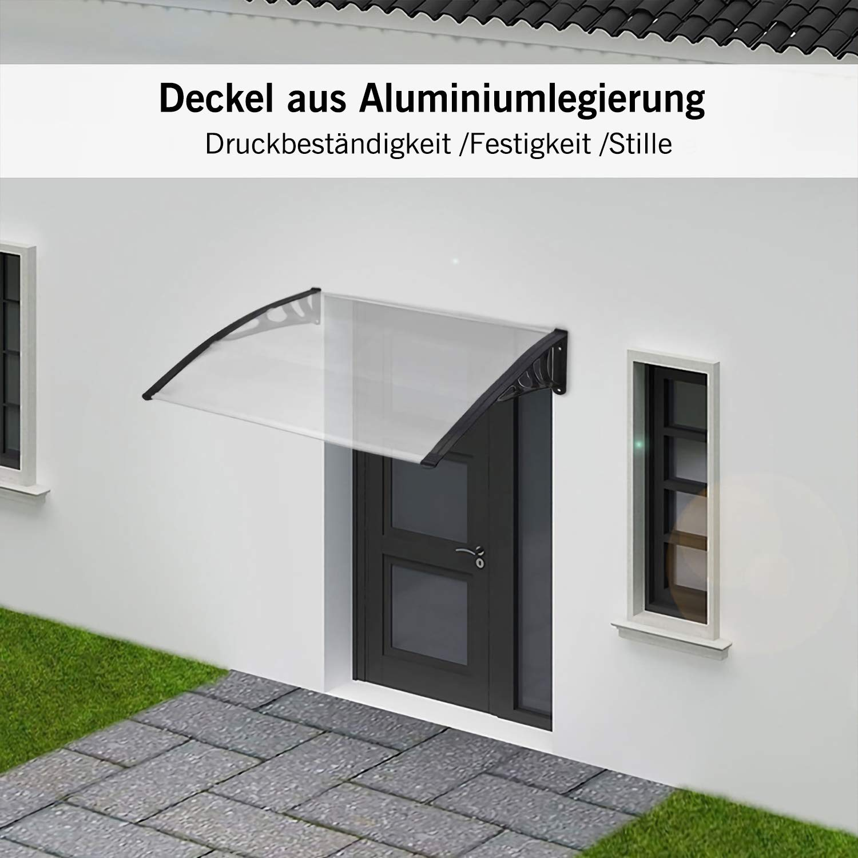 200x90cm | Wei/ß Famgizmo Vordach Haust/ür /Überdachung Haust/ürvordach Pultvordach