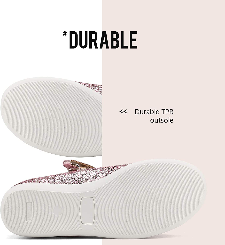DREAM PAIRS Girls Dress Shoes Ballerina Mary Jane Flats