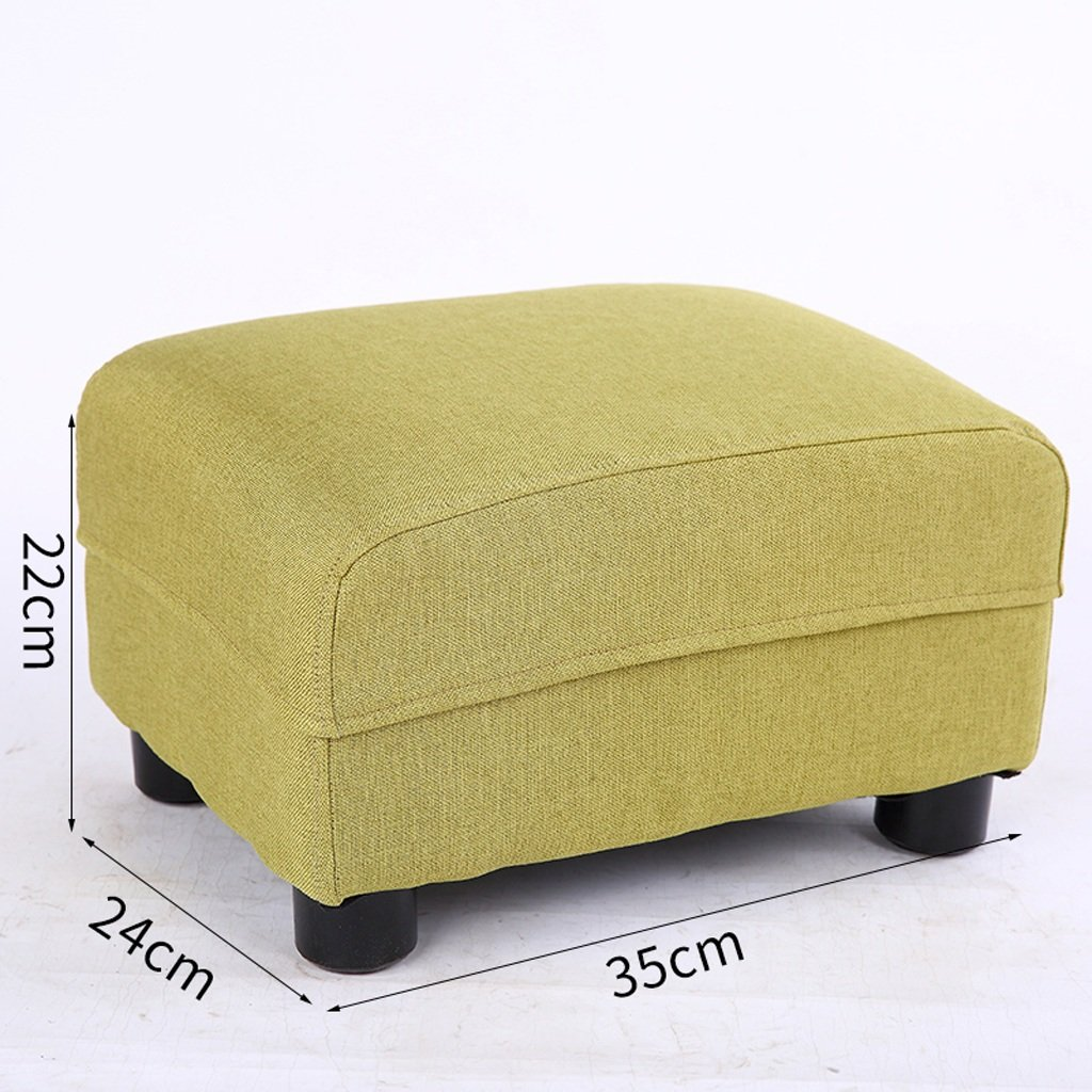 Green Stools Replace shoes Bench Solid Wood Home Living Room Sofa Footstool Bedroom Bedside Stools (Rectangle) (color   Purple)