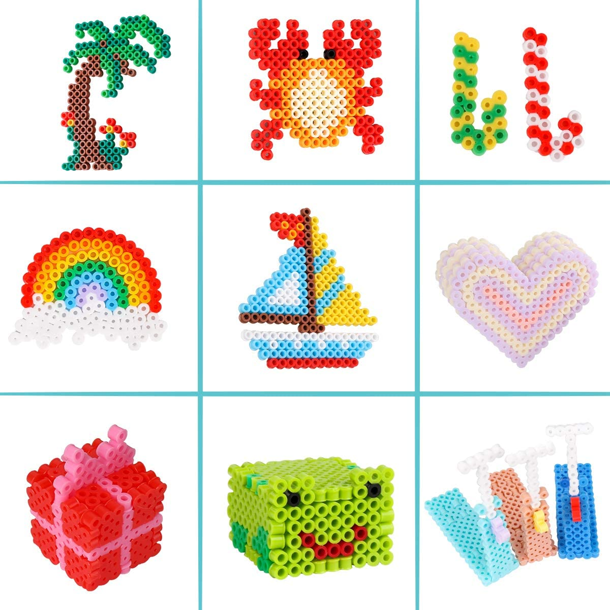 Fuse Beads Kit Ironing Paper /& Chain Accessories Iron Beads Christmas Birthday Gift 11,000 pcs 36 Colors Fuse Beads Craft Set for Kids Including 5 Pegboards