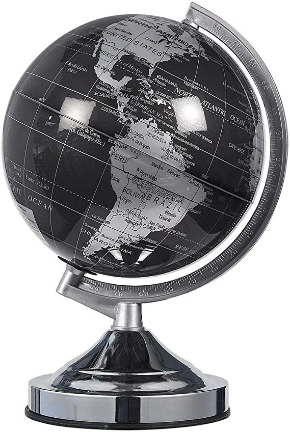 Juvale Small World Globe With Stand For Home Desk Classroom Black 8 In Toys Games
